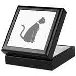 Gray Cat Keepsake Box