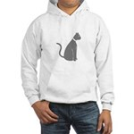 Gray Cat Hooded Sweatshirt