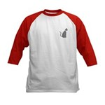 Gray Cat Kids Baseball Jersey