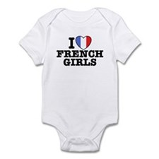 I Love French Girls Infant Bodysuit