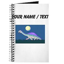 Custom Dinosaur At Night Journal