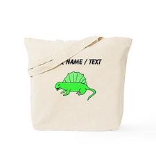 Custom Green Dinosaur Tote Bag