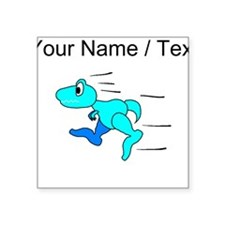 Custom Dinosaur Running Sticker