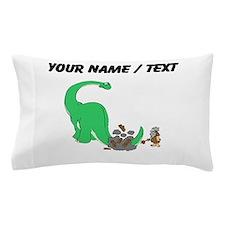Custom Dinosaur And Caveman Pillow Case