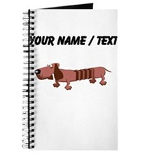 Custom Cartoon Dachshund Journal