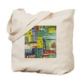Central Park Abstract Art Tote Bag