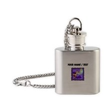 Custom Cow Jumping Over Moon Flask Necklace