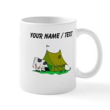 Custom Cow In Tent Mugs