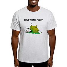 Custom Cow In Tent T-Shirt