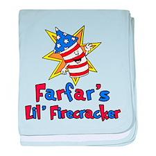 Farfar's Little Firecracker baby blanket