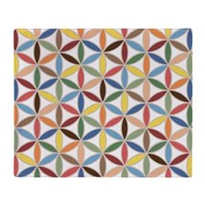 Flower of Life Retro Col Ptn Throw Blanket