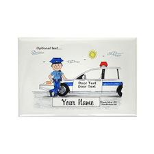 Police Officer - Blue Uniform, Male Magnets