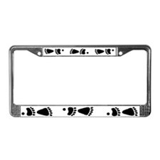 Black Bear Tracks License Plate Frame