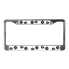 Dog Tracks License Plate Frame