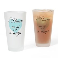 A huru m gi n'anya - Igbo I love you Drinking Glas