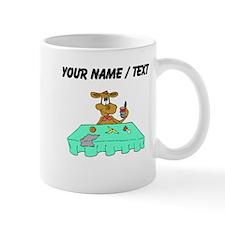 Custom Cow Eating At Table Mugs