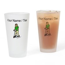 Custom Chimp On Scooter Drinking Glass