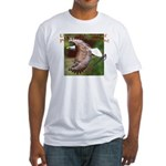 Two Eagles-b on Fitted T-Shirt