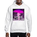 I Love Mushrooms Spherized Hooded Sweatshirt