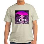 I Love Mushrooms Spherized Light T-Shirt
