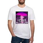 I Love Mushrooms Spherized Fitted T-Shirt