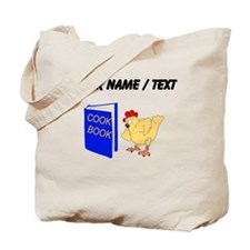 Custom Chicken Reading Cook Book Tote Bag
