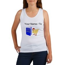 Custom Chicken Reading Cook Book Tank Top