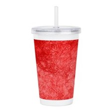 Red Smudge Acrylic Double-wall Tumbler