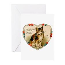Kitten Valentine - Be Mine Greeting Cards