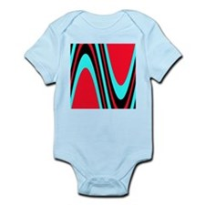 Funky Colourful Red Black Turquoise Trea Body Suit