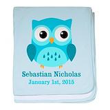 Owl baby boy Blanket