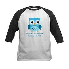 Blue Owl CUSTOM Baby Name Birthdate Baseball Jerse