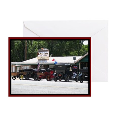 Bear Trap Cafe Old Cars Greeting Cards (Pk of 10)