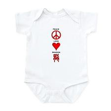 Peace Love Dragon Infant Creeper
