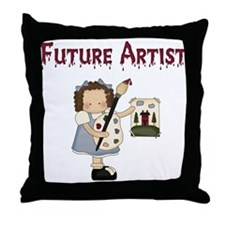 Future Artist Throw Pillow
