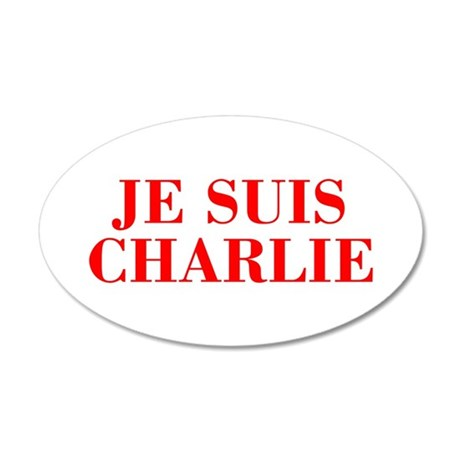 Je suis Charlie-Bod red Wall Decal