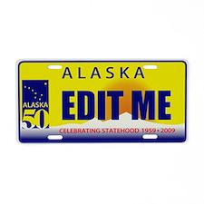 2009 Alaska 50 Anniversary Aluminum License Plate