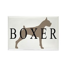 Boxer Dog Breed Rectangle Magnet (10 pack)