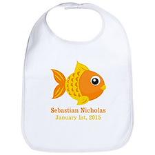 Goldfish CUSTOM Baby Name Birthdate Bib