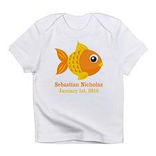 Goldfish CUSTOM Baby Name Birthdate Infant T-Shirt
