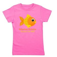 Goldfish CUSTOM Baby Name Birthdate Girl's Tee