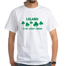 Leland is my lucky charm White T-shirt