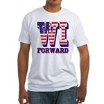 Wisconsin WI Forward Fitted T-Shirt