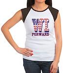 Wisconsin WI Forward Women's Cap Sleeve T-Shirt
