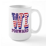 Wisconsin WI Forward Large Mug