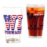 Wisconsin WI Forward Drinking Glass