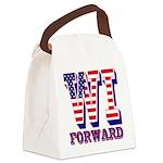 Wisconsin WI Forward Canvas Lunch Bag
