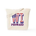 Wisconsin WI Forward Tote Bag