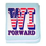 Wisconsin WI Forward baby blanket
