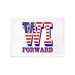 Wisconsin WI Forward 5'x7'Area Rug